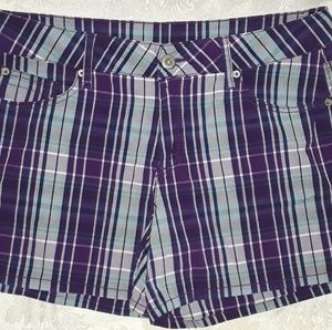 Pants - 2/$18 Purple Plaid Shorts